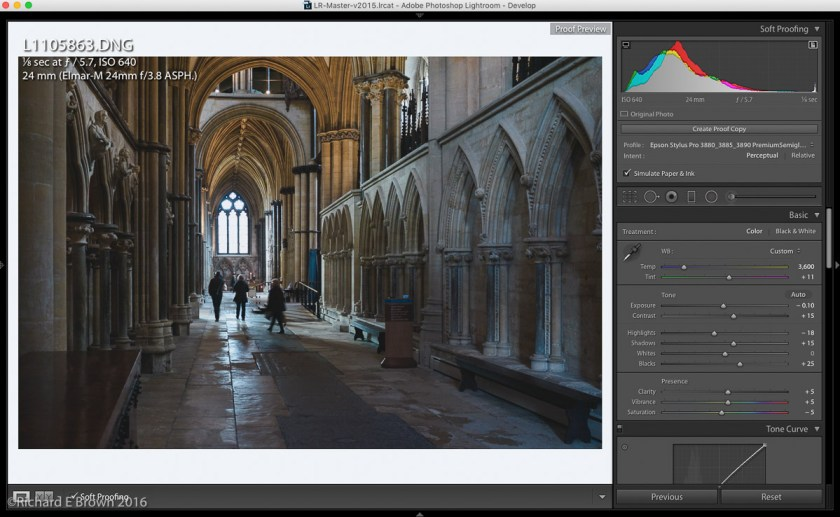 Lightroom processing for print