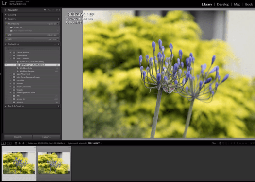 Screen Shot Adobe Lightroom RAW Sync