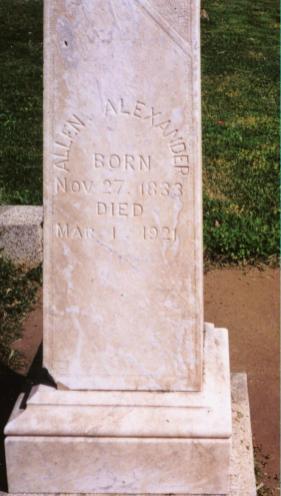 Allen Alexander Headstone
