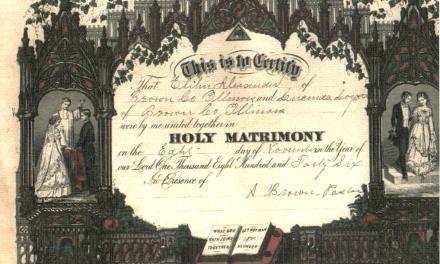 Marriage Certificate for Elihu and Lucinda (Logsdon) Alexander