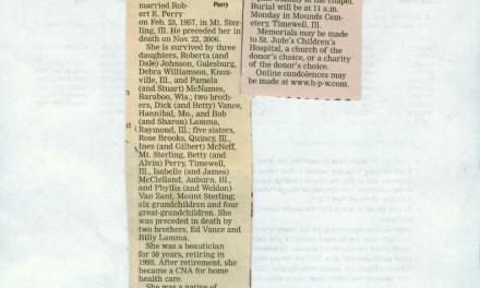 Obituary for Ruth E. Perry