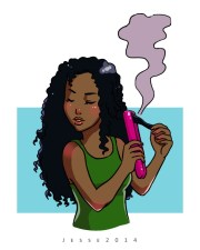 curl brush hair cartoon
