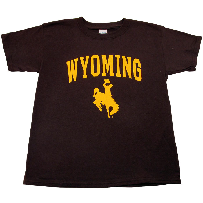 Youth  Traditional Wyoming Cowboys Tee  Brown  Brown