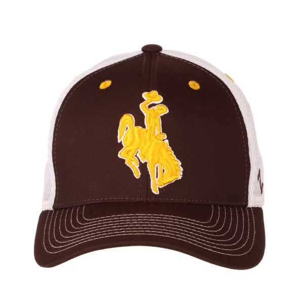 Wyoming Cowboys American Flag Hat Brown And Gold - Year of