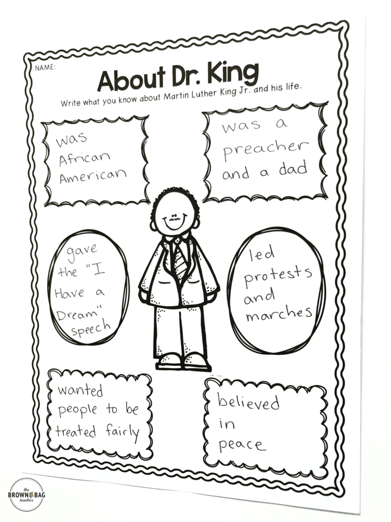 hight resolution of Martin Luther King in 1st Grade - The Brown Bag Teacher