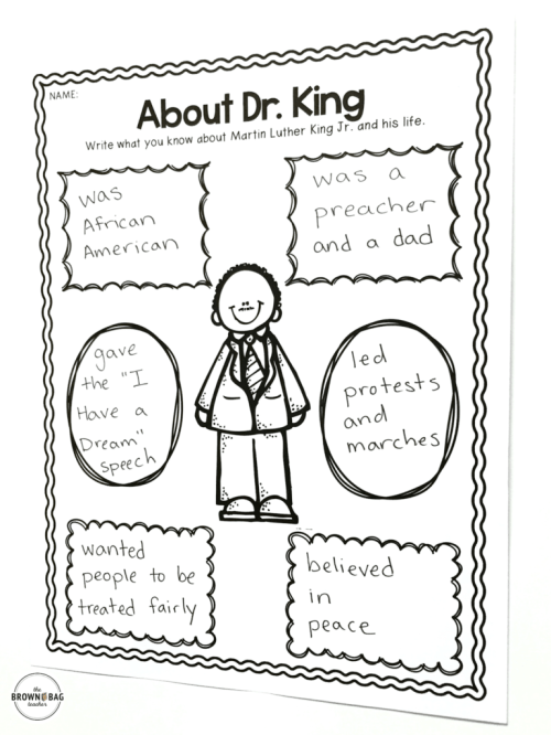 small resolution of Martin Luther King in 1st Grade - The Brown Bag Teacher