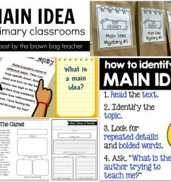 Main Idea Freebies - The Brown Bag Teacher [ 819 x 1024 Pixel ]