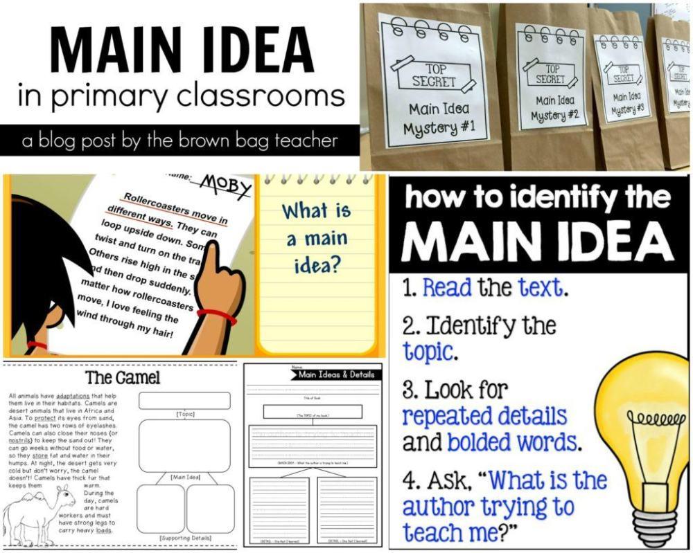 medium resolution of Main Idea Freebies - The Brown Bag Teacher