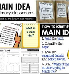 Main Idea Freebies - The Brown Bag Teacher [ 1280 x 1600 Pixel ]