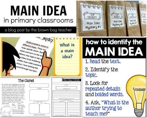 small resolution of Main Idea Freebies - The Brown Bag Teacher