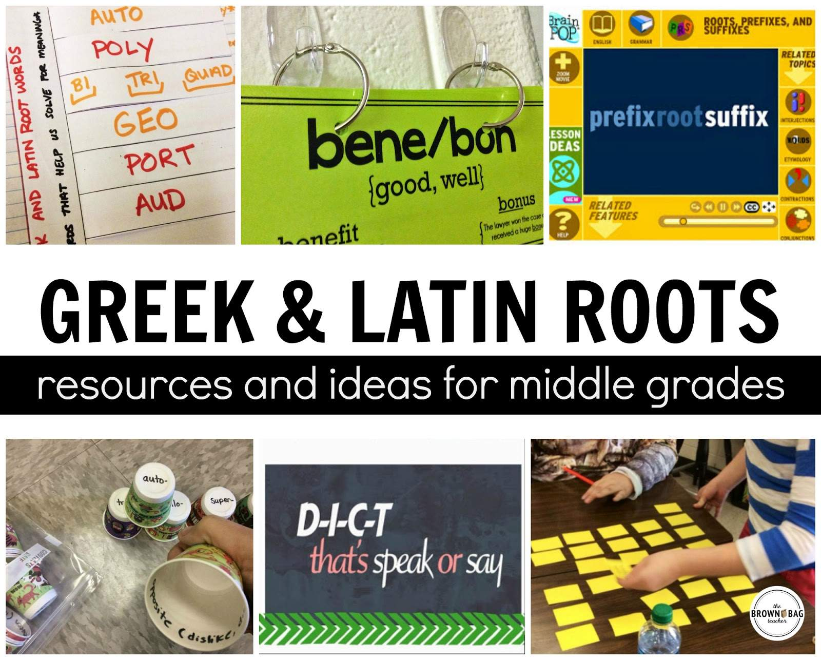 hight resolution of Greek and Latin Roots - The Brown Bag Teacher