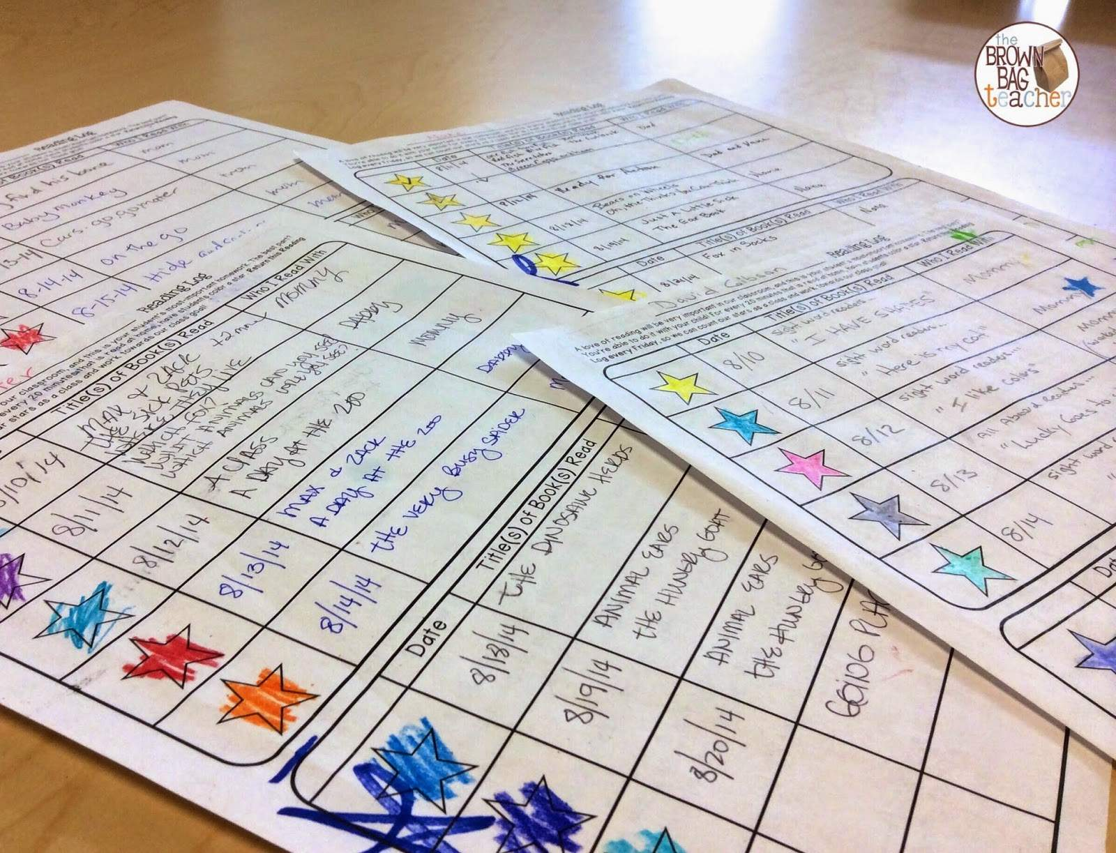 1st Grade Reading Logs Goal Setting For At Home Reading