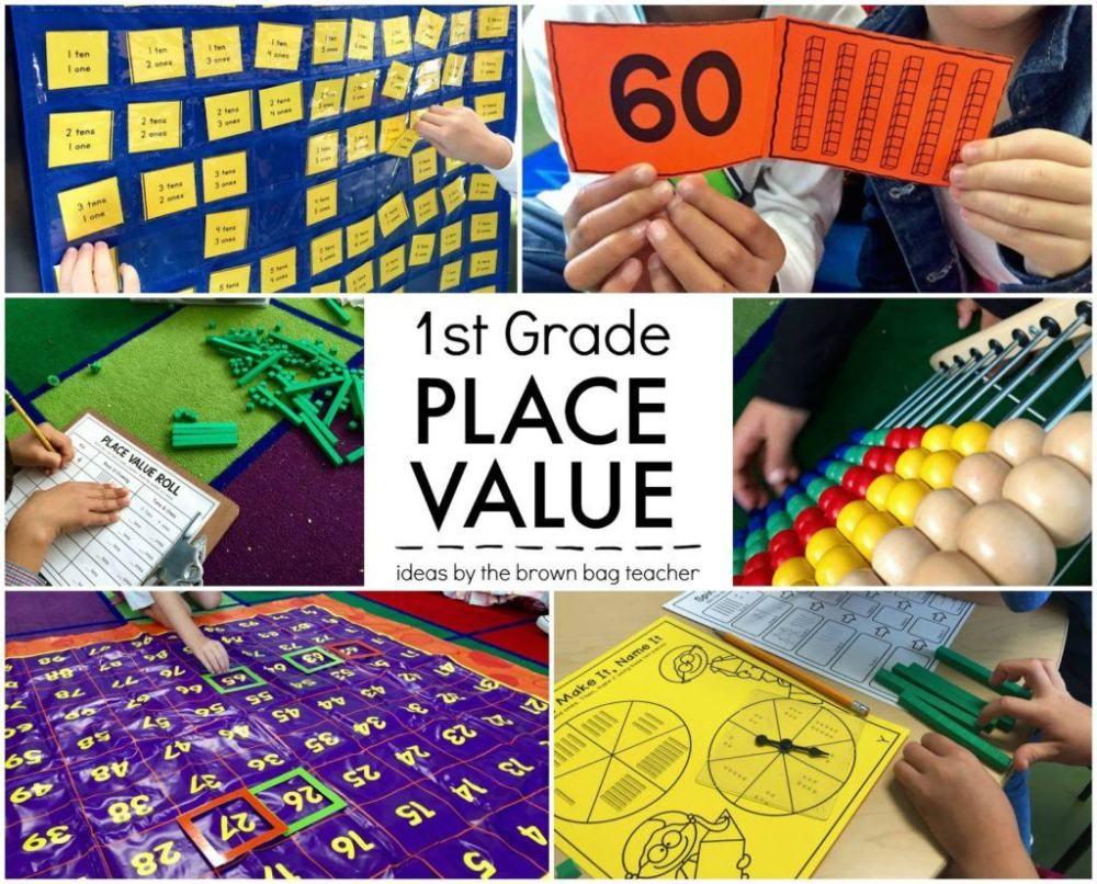medium resolution of Place Value: 1st Grade Centers - The Brown Bag Teacher