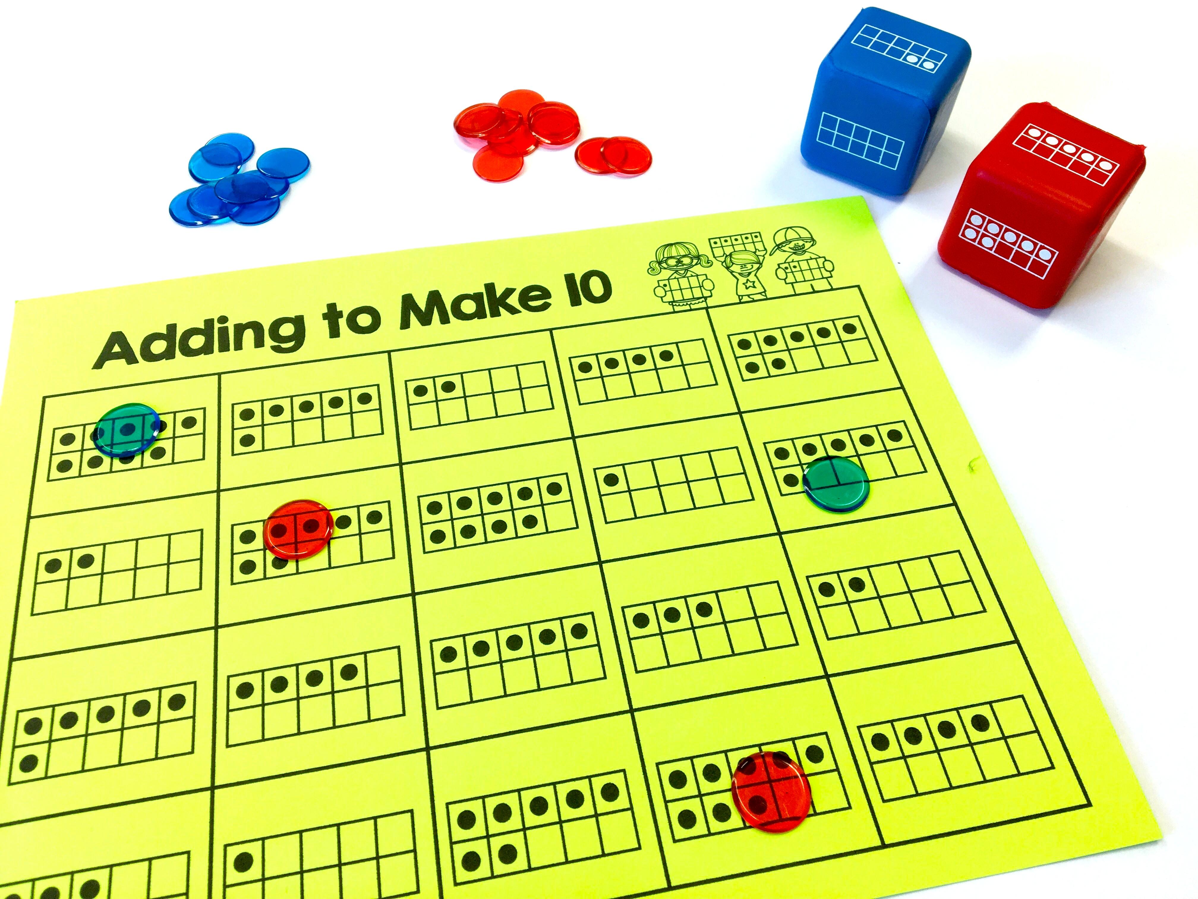 Make A Ten Frame To Subtract