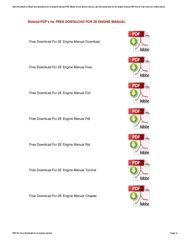 Toyota Corolla 2e Engine Manual Pdf Free Download
