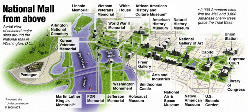 National Mall From Above Map Browncoat Ball 2018