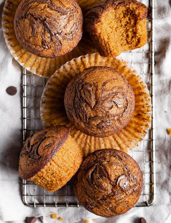 swirls-of-chocolate-on-pumpkin-muffin-tops