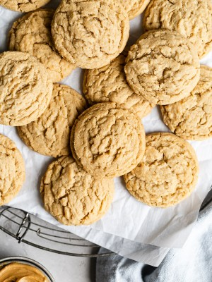 15 minute peanut butter cookies on baking tray