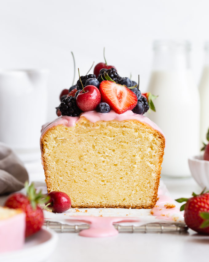Strawberry Lemon Loaf Cake