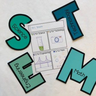 STEM letters with activity