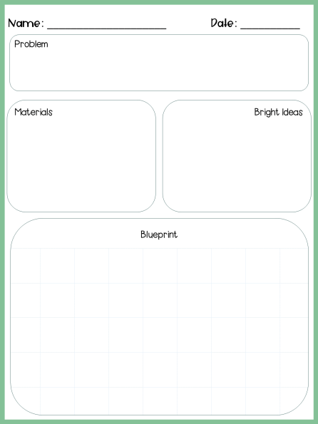 Use this planning page for students to write/draw their ideas for a STEM project.