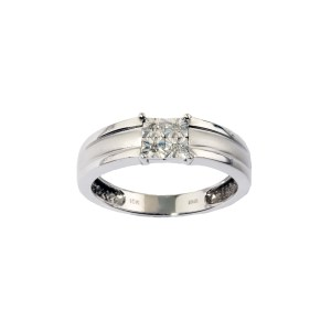 Gent's Diamond Wedding Band 0.30 ctw in 10K White Gold