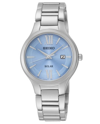 Seiko Women's Solar with Blue Dial and Stainless Steel Band-0