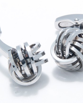 Stainless Steel Love Knot Cufflinks-0