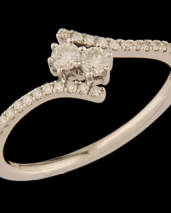 Twogether Diamond 0.25 ctw Bypass Ring in Sterling Silver-0