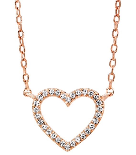 Pink Gold Heart