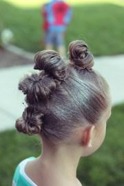 crazy hair bun mohawk brown