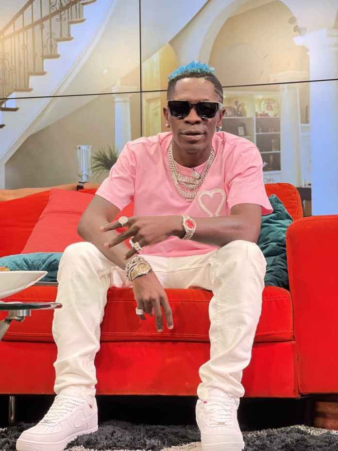 Shatta Wale exhibits his 'childishness' on Live TV (Video)