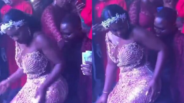 Bride shows her s3xual skills as she rides her husband at their wedding reception — video