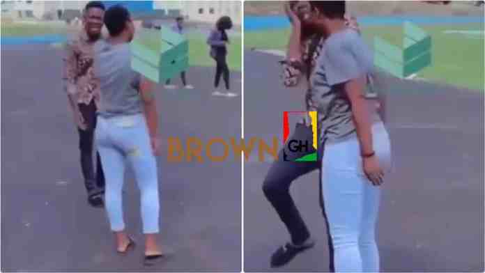 Lady gives boyfriend 'knockout slap' after he tried breaking with her (Video)