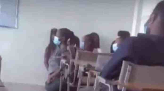 Video of Ghanaian University students kneeling inside lecture hall causes uproar on social media