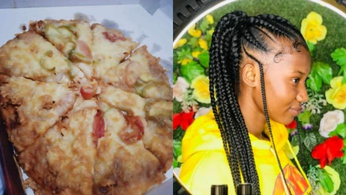 """""""I ordered for pizza in Techiman and this is what I got"""" -Lady cries bitterly after getting 'cake' as pizza(Photo)"""