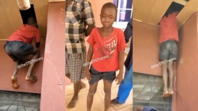 Watch how little boy broke into the ceiling of his neighbour to steal money