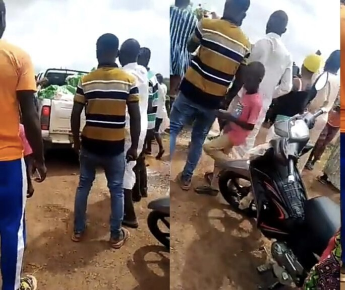 Angry Zongo Youth rejects rice provided by their MP; demand for jobs instead (Video)