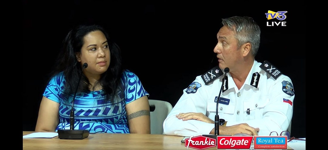 Doris Tulifau Speaks with Samoan Police Commissioner on Mass Prison Break and COVID-19 on TV3 Morning Show
