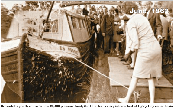 I'm not sure when Charles Ferrie passed on, but this boat was certainly named after him in 1962. Image from the Walsall Chronicle.