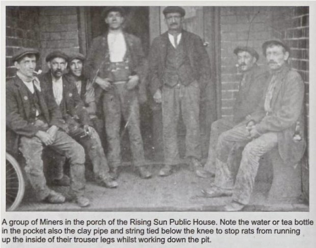 An iconic photo of miners who would have worked Brownhills Common at rest. From the brilliant book 'Memories of Old Brownhills' by Clarice Mayo and Geoff Harrington.