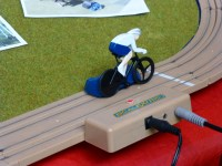 British Cycling Scalextric. Never knew this had existed. If I'm not mistaken, thats the famous Lotus...