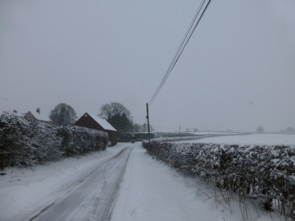 Near Footherly, Forge Farm had sent out a tractor to clear the lanes with a snow plough fitted. Jolly decent of them, I thought.