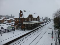 The station was as picturesque as ever - and the trains were running almost normally.