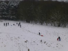 Kids were having a ball sledging in the Hednesford Hills