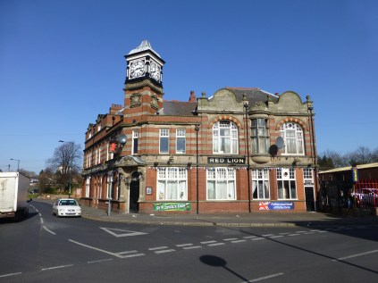 The Red Lion, in Erdington. Many Birmingham pubs have fantastic architecture, and speak of a time when building a pub was a tour de force of commercial might. A beautiful, but decaying building.