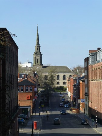 St. Pauls, in the Jewellery Quarter, is my favourite church in central Birmingham. I love the approaches to it's square.