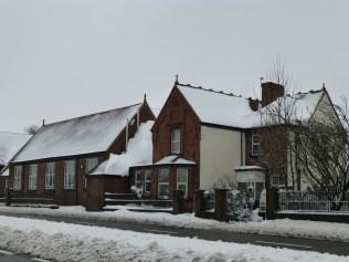 Love that drift on Watling Street School Roof.