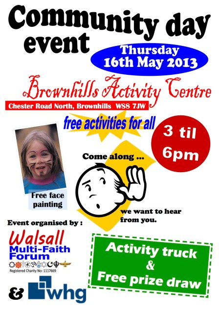 Brownhills roadshow flyer May 2013