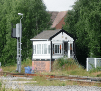Henesford signal box. mage supplied by Ian Pell.